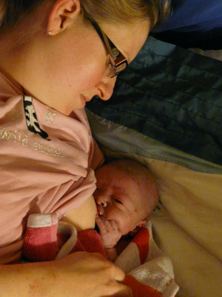 Kate's surprise home birth - first snuggles