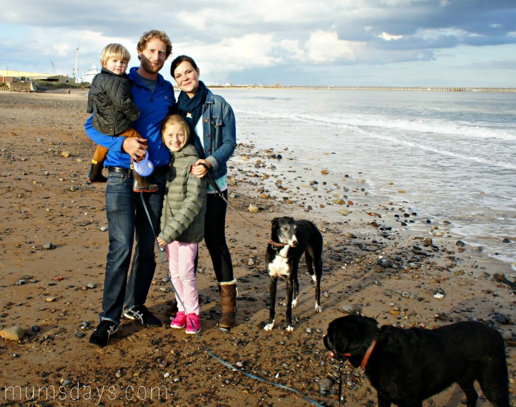 On the beach - we are lucky to live right by the beach so it's perfect for family fun!